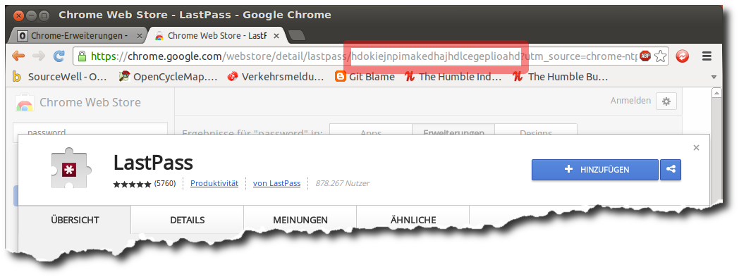ChromeWebShop - Applikations-Id